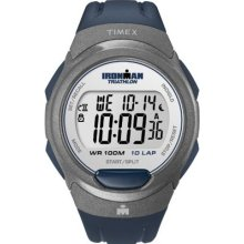 Timex Mens T5k610 Ironman Traditional 10-lap Blue Resin Strap Watch Wristwatch N