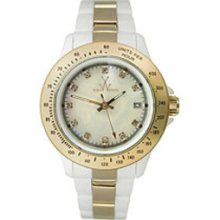 Toy Watch Heavy Metal Plasteramic - White and Gold Women's watch