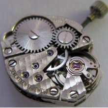 Used Lady Int. 69 17j. Watch Movement For Parts