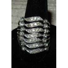 Vintage Made in Spain Sterling Silver Stacking Ring Size 8