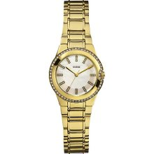 W12654L1 Guess Ladies MINI MOONBEAM Gold Tone Watch