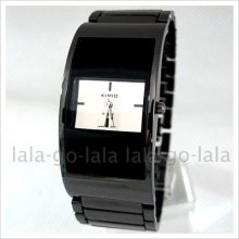 Black Bracelet Style Ladies Womens Girl Ladys Quartz Wrist Watch Gift