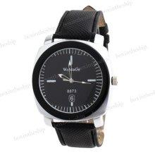 Fashion Men Women Leather Band Analog Quartz Casual Wrist Watch 2