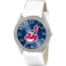 Game Time Cleveland Indians Black Mlb-Gli-Cle Women'S Mlb-Gli-Cle Glitz Classic Analog Cleveland Indians Watch