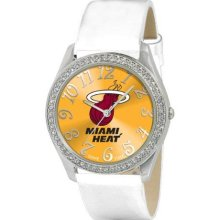 Game Time Official Team Colors. Nba-Gli-Mia Women'S Nba-Gli-Mia Glitz Classic Analog Miami Heat Watch
