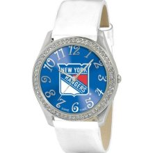 Game Time Official Team Colors. Nhl-Gli-Nyr Women'S Nhl-Gli-Nyr Glitz Classic Analog New York Rangers Watch