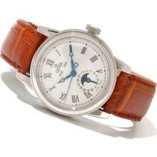 Gevril Men's Chelsea Limited Edition Swiss Made Automatic Stainless Steel Leather Strap Watch