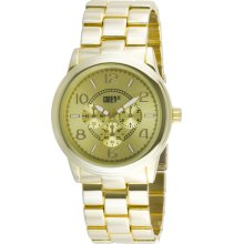 Gruen II Ladies Dress Watch w/Goldtone Round Case, Champagne Dial and GT Bracelet Band