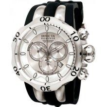 Invicta 10827 Men $1595 Venom Reserve Silver Ss Dial Black Polyurethane Watch