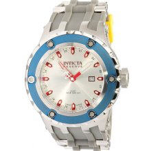 Invicta Men's Reserve GMT Stainless Steel Case Chronograph Silver Dial Rubber Strap 10970