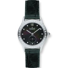 Ladies Charmex Stainless Steel Blk MOP Swiss Quartz 28mm Watch