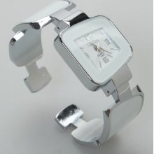 Ladies Digital Bracelet Watch Women Wrist Watch White
