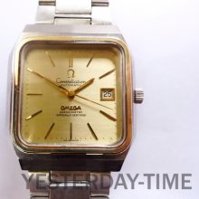 Omega 1972 Constellation Chronometer 23 Jewel Swiss Stainless Steel & Gold Gents Automatic Watch