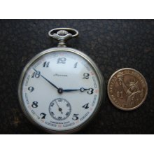 RARE Vintage Soviet Union open pocket Watch USSR Russian Pocket watch Molnija Made in 1970s