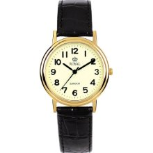 Royal London Men's Quartz Watch With Beige Dial Analogue Display And Black Leather Strap 40000-04