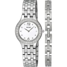 Seiko Swarovski Crystal Matching Bracelet Ladies Watch SUJG27