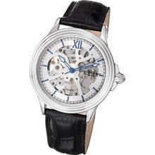 Stuhrling Original 167 33152 Mens Classic Automatic Skeleton Leather Watch