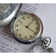Ussr pocket watch Molnija, retro soviet watch