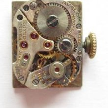 Avalon As 976 Watch Movement And Dial Runs And Keeps Time
