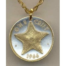 Bahamas Golden Star Fish Necklace 14k Golden Rope Gold On Silver Jewelry