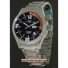 Ball Engineer Master II Diver Steel 42mm Watch - Black/Orange Dial, Stainless Steel Bracelet DM1020A-SAJ-BKOR Sale Authentic Tritium
