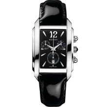 Balmain Swiss Luxury Velvet Chrono Lady Women's Black Leather Watch B5731.32.64