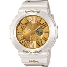 Casio G-Shock Baby G BGA 160 Watch - WHT GLD - (LTD) - white regular
