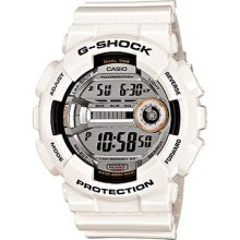 Casio Gshock Gd110-7 Gloss White Watch 2013 Dail Xl
