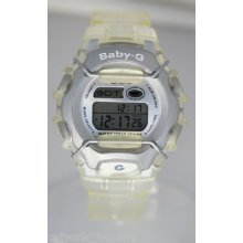 Casio Woman's Bg460 Baby Clear Sport Watch Alarm Chronograph Crystal Digital