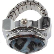 Fashion Ladies Rhinestone Crystal Leopard Finger Ring Quartz Watch Mm