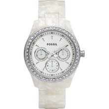 Fossil Stella White Plastic Ladies Watch Es2790
