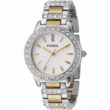 Fossil Twotone Mixed Metal Ladies Watch