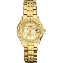 Guess Goldtone Mixed Metal Ladies Watch U85110L1