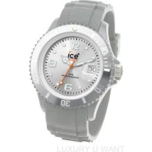 Ice Sisrus09 Sili Classic Silver Tone Dial Silicone Plastic Unisex Watch
