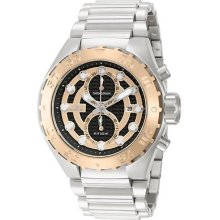 Invicta 13091 Watch Mens Pro Diver Black Sunray Rose Dial Quartz Chronograph