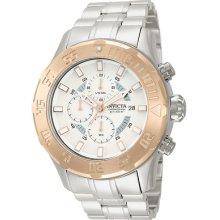 Invicta 13108 Watch Mens Pro Diver Silver Rose Dial Chronograph Quartz