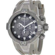 Invicta Men's Reserve Collection Sea Excursion Chronograph Watch 0646 With Light Grey Polyurethane Strap And Grey Dial