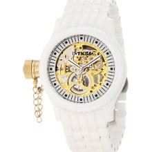 Invicta Women 1897 Russian Diver Mechanical Gold Skeleton Dial Quartz Watch
