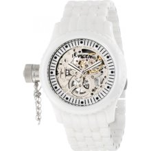 Invicta Women's 1896 Russian Diver Mechanical Silver Skeleton Dial Watch