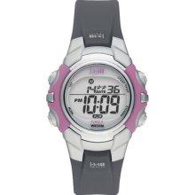 Ladies Timex Indiglo 1440 Sports Digital Alarm Black Rubber W Pink Watch T5j151