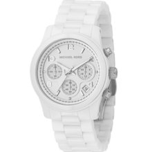 Michael Kors Watch, Womens Chronograph Runway White Ceramic Bracelet 3