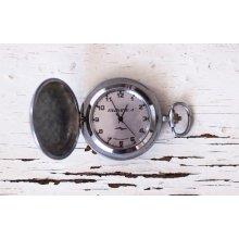 Pocket watch Soviet watch Russian watch WORKING -