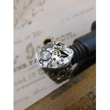 Steampunk Ring Made with a Vintage Watch Movement.