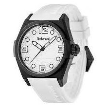 Timberland Radler Unisex Quartz Watch With White Dial Analogue Display And White Silicone Strap 13328Jpb/01