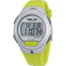 Timex Mens T5k612 Ironman Traditional 10-lap Yellow-green Resin Strap Watch Wris