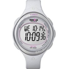Timex Womens T5k601 Ironman Clear View 30-lap White Resin Strap Watch Wristwatch