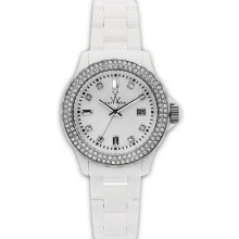 Toy Watch Plateramic White Plastic Diamond Ladies Watch 32208-WH ...