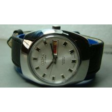 Vintage Dogma Automatic Day Date Swiss Made Mens Wrist Watch Old Used Antique