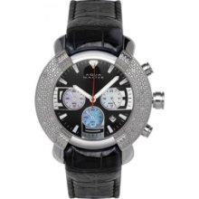 Aqua Master Diamond Watch Mens's 96 Model Watches With Leather Band 60-6W