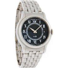 Bedat & Co No. 8 Mens Black Dial Stainless Steel Swiss Quartz Watch